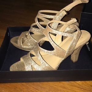Naturalizer Shoes - sparkly gold heels